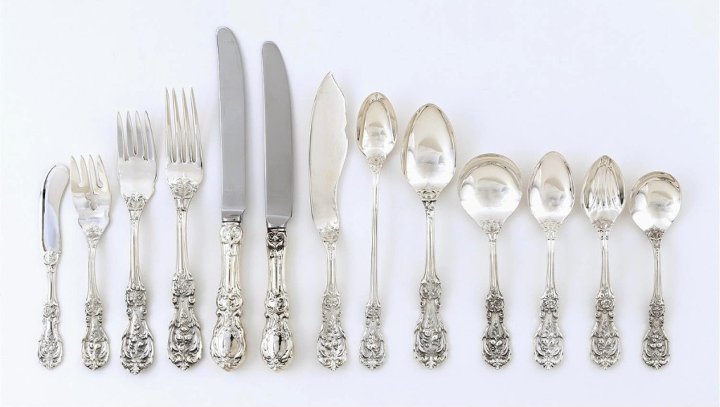 """This Reed & Barton """"Francis I"""" sterling assembled flatware service commanded $5,313."""