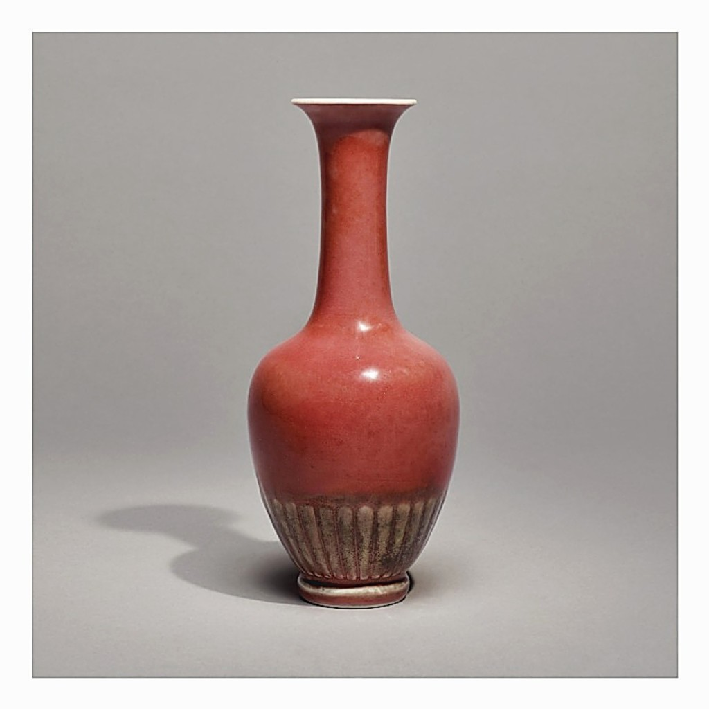 "Peachbloom-glazed ""Chrysanthemum"" vase, which fetched $746,000 (Kangxi Porcelain)"