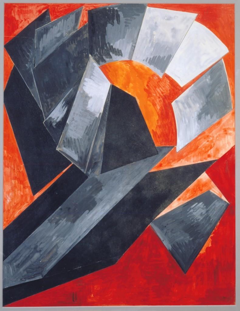 """Exter Alexandra, """"Abstract Composition,"""" circa 1916. Courtesy of ABA Gallery."""