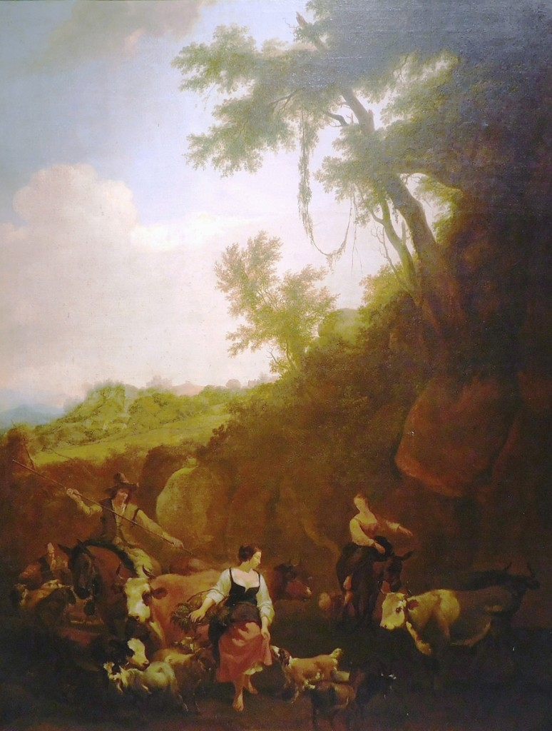 Leading the sale was this early Continental oil, a pastoral scene with shepherd attributed to the workshop of Nicholaes P. Berchem (1620-1683), which sold for $8,400.