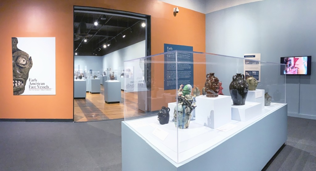 """""""Early American Face Vessels from the George H. Meyer Collection"""" is on view at the South Carolina State Museum through April 25, 2021. Image courtesy of the South Carolina State Museum."""