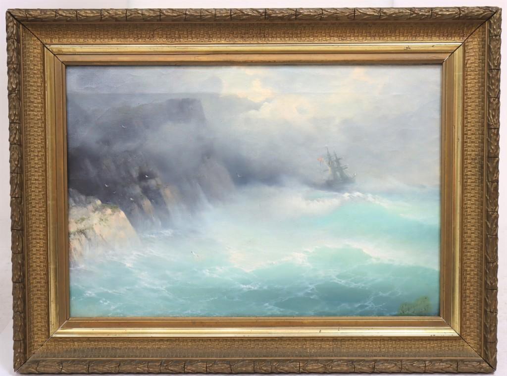 Ivan Konstantinovich Aivazovsky (1817-1900) Ship At Sea, Oil on Canvas