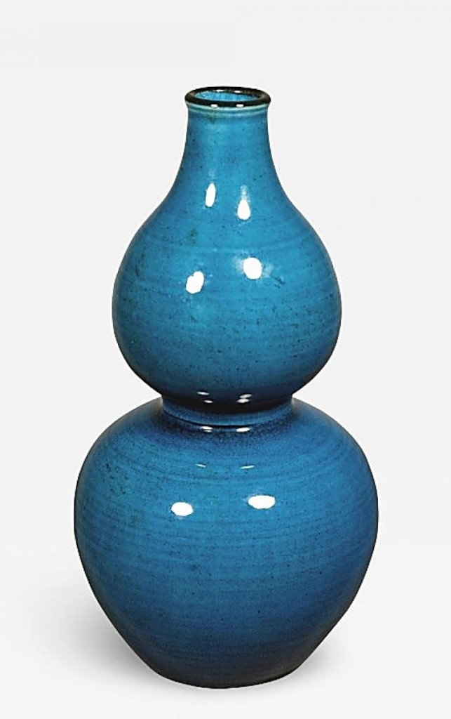Provenance is increasingly important when selling Chinese works of art and this mid-Eighteenth Century turquoise glazed porcelain double-gourd shaped vase had been in the collections of Walter Bareiss, who had collected African and Asian art in the mid-Twentieth Century; and Samuel T. Peters, who had been an early Twentieth Century collector of Chinese art that donated many works from his collection to the Metropolitan Museum of Art. Ralph M. Chait Galleries, New York City, was offering the vase for $26,000.