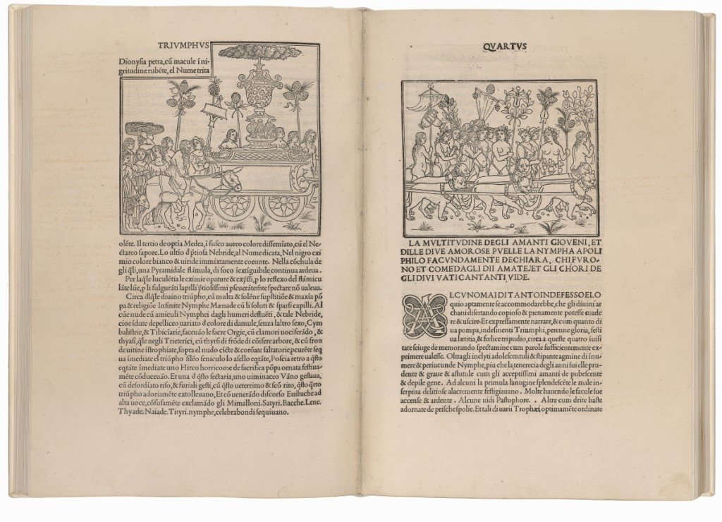Francesco Colonna (d 1527) Hypnerotomachia Poliphili (The Strife of Love in a Dream by the Lover of Polia), Venice: Aldus Manutius [for Leonardus Crassus], December, 1499. The Morgan Library & Museum, purchased with the Irwin collection,      —Graham S. Haber photo
