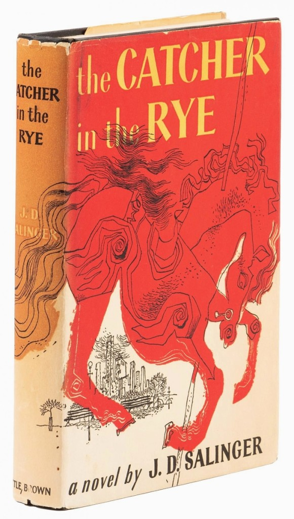 Leading the sale was a first edition copy of J.D. Salinger's The Catcher in the Rye, (Little, Brown and Company, Boston,) 1951, which exceeded its $3,500 high estimate to sell for $6,600.