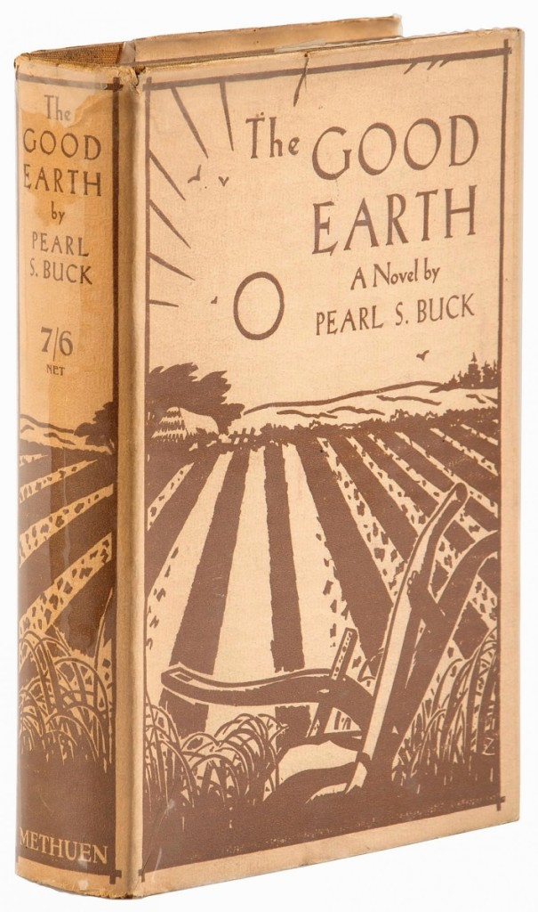 The Good Earth, Pearl Buck's 1932 Pulitzer Prize winner in dust jacket, first edition, first state, sold for $5,100.