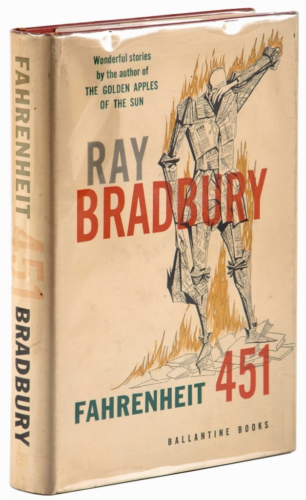 Fahrenheit 541, review copy in jacket, signed by Ray Bradbury on the title page and with review slip laid in, realized $4,500.