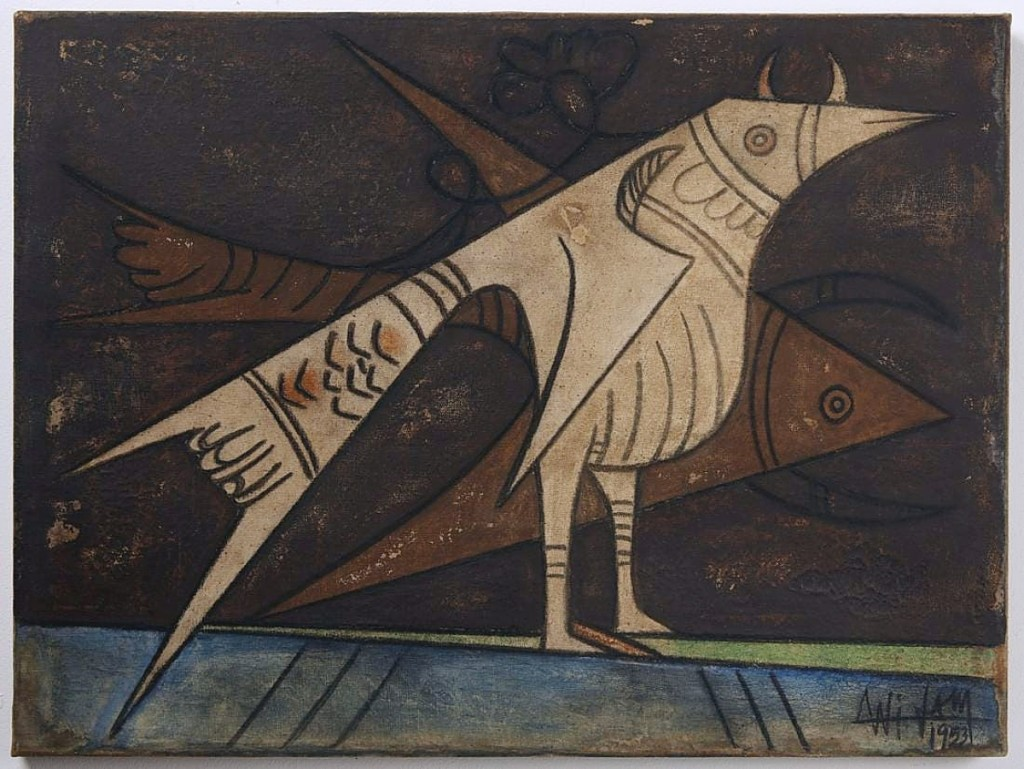 Giampietro said that this oil on canvas by Wilfredo Lam walked in to the gallery from a consignor in the neighborhood. It measured 23½ by 31½ inches and sold for $11,250.