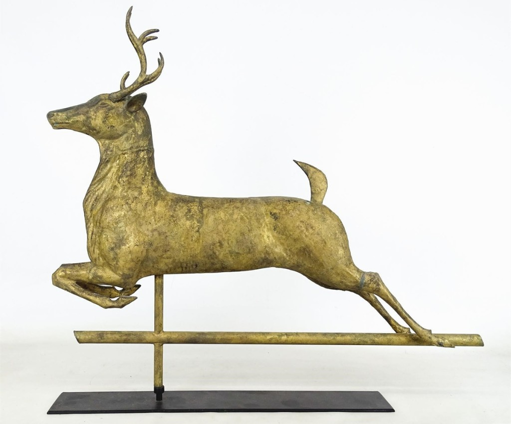 This leaping stag vane measured 30½ inches long and sold for $7,080.
