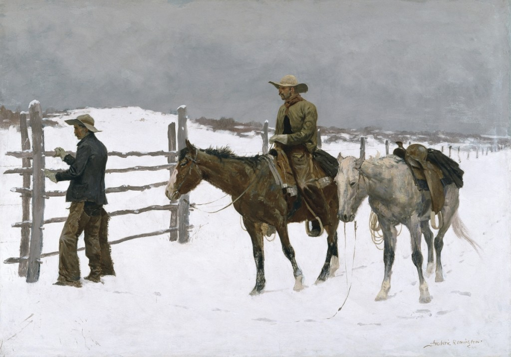 """""""The Fall of the Cowboy"""" by Frederic Remington (1861-1909), 1895. Oil on canvas. Amon Carter Museum of American Art, Fort Worth, Texas, Amon G. Carter Collection."""
