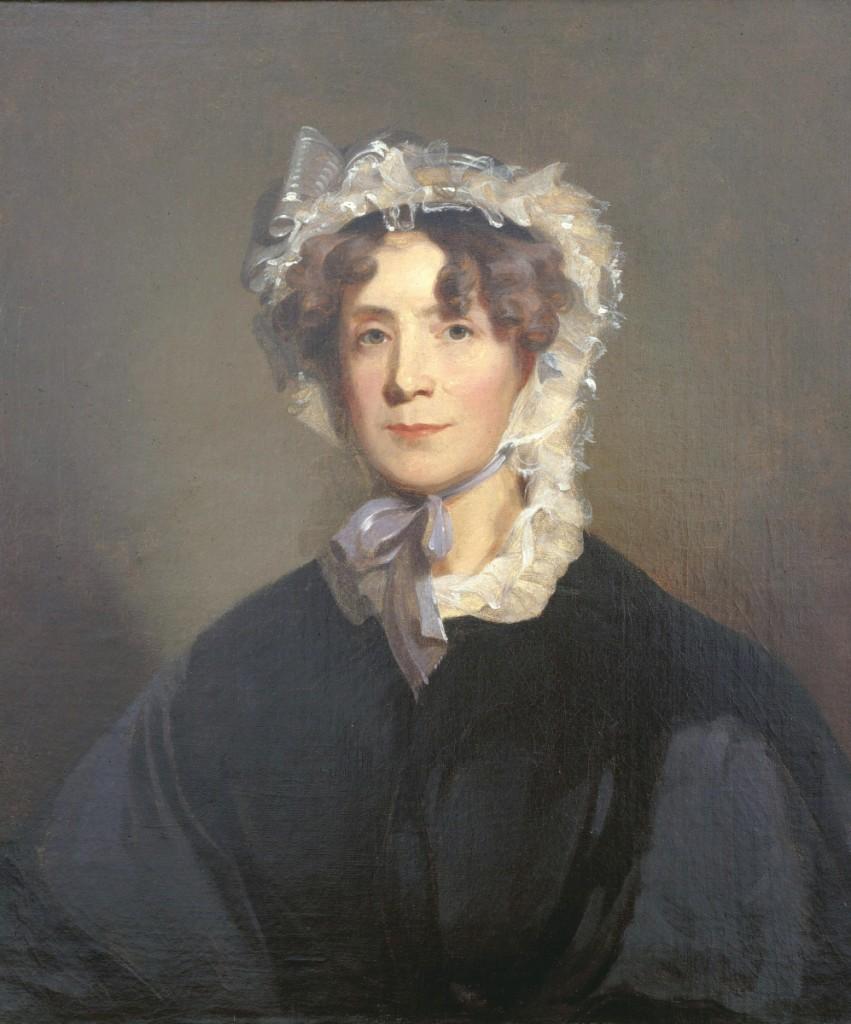 """Martha Jefferson Randolph"" by Thomas Sully (1783-1872), 1836, oil on canvas, Thomas Jefferson Foundation at Monticello."