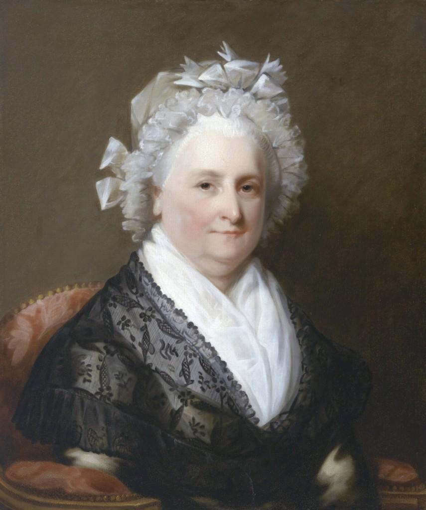 """Martha Washington,"" unidentified artist, after Gilbert Stuart, circa 1800-05, oil on canvas, National Portrait Gallery, Smithsonian Institution."