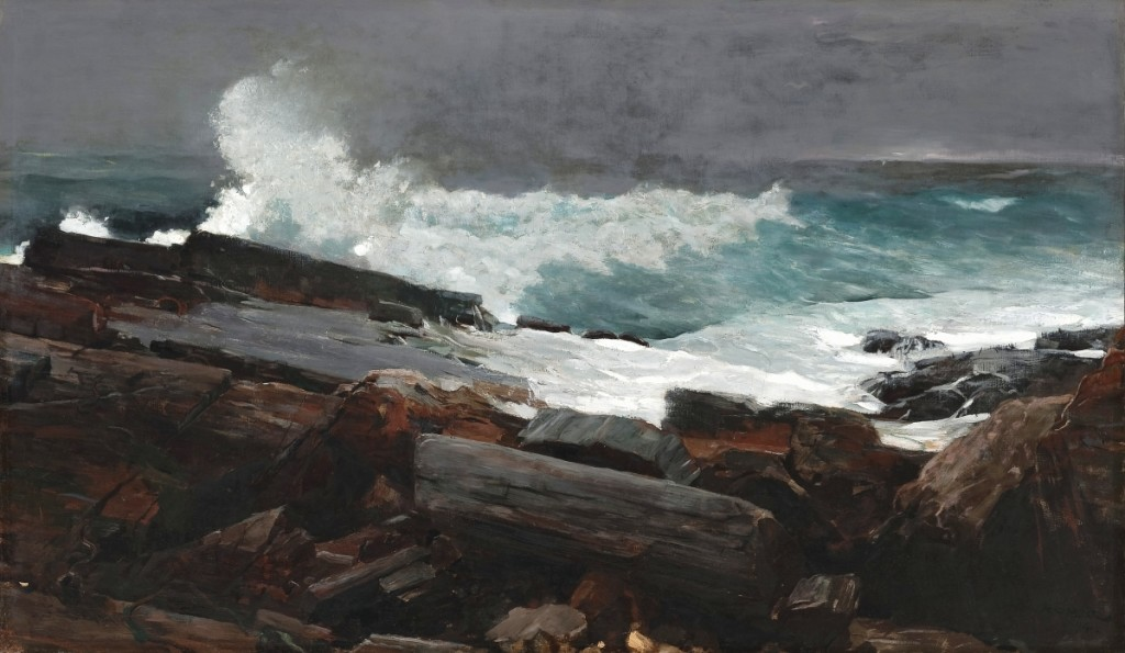 """""""Weatherbeaten"""" by Winslow Homer (1836-1910), 1894. Oil on canvas. Portland Museum of Art, Maine: Bequest of Charles Shipman Payson. Image courtesy Portland Museum of Art."""