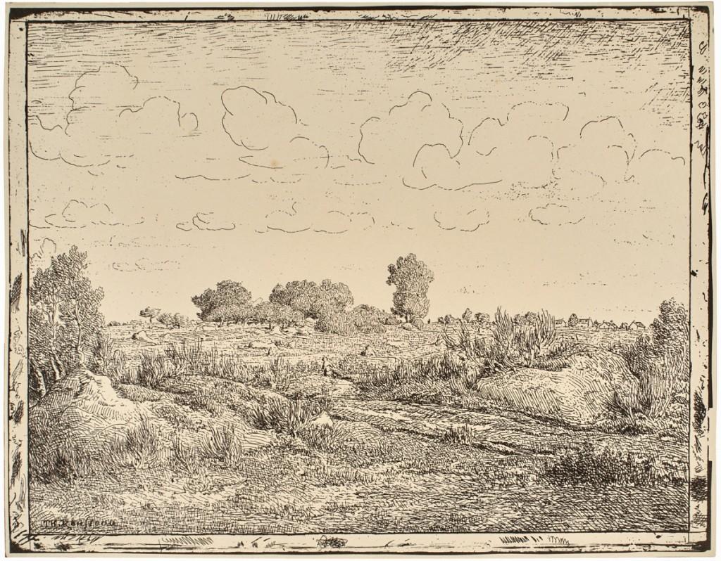 """Théodore Rousseau (French, 1812-1867), """"The Plain at Plante-à-Biau (La plaine de la Plante à Biau),"""" 1862, printed 1921."""