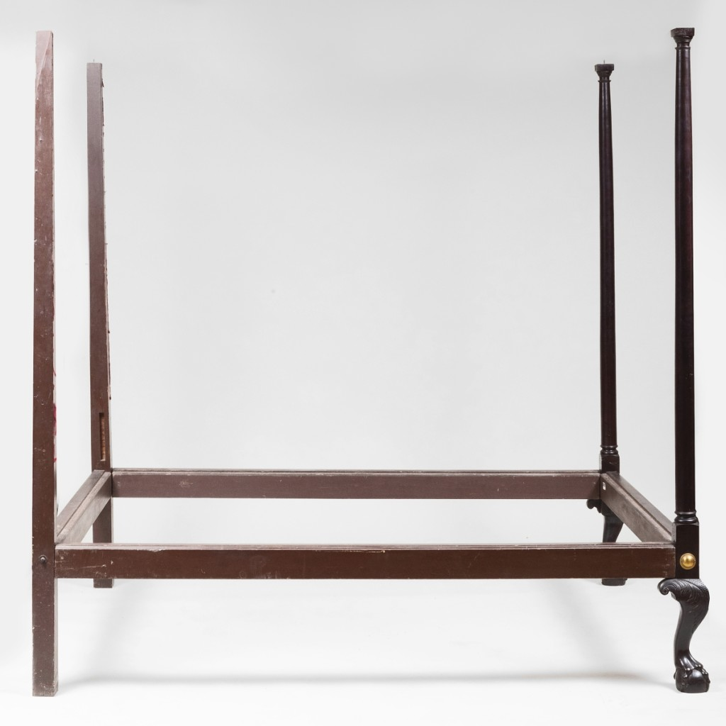 This Chippendale tester bed was the overall top lot in the two-day Americana sale, selling for $24,600.