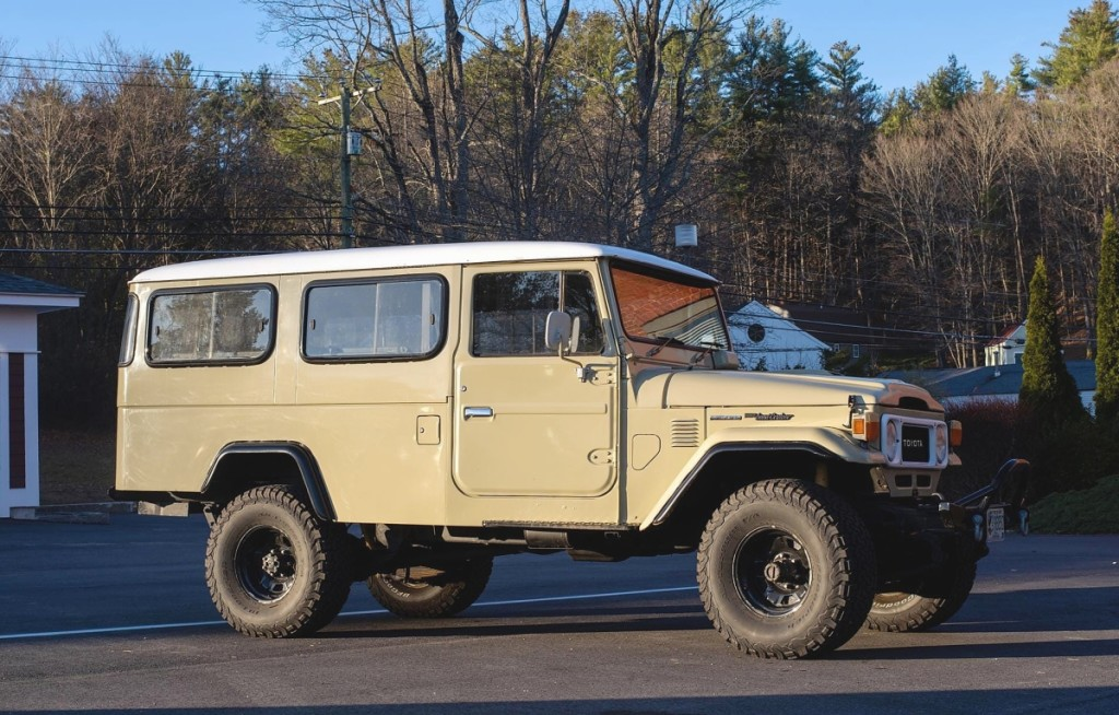 "The star of the sale was a fully loaded 1981 Toyota Land Cruiser, an HJ 47 ""Troopy,"" which sold for $27,600. It had more than 200,000 miles and was one of two Land Cruisers offered in the sale."
