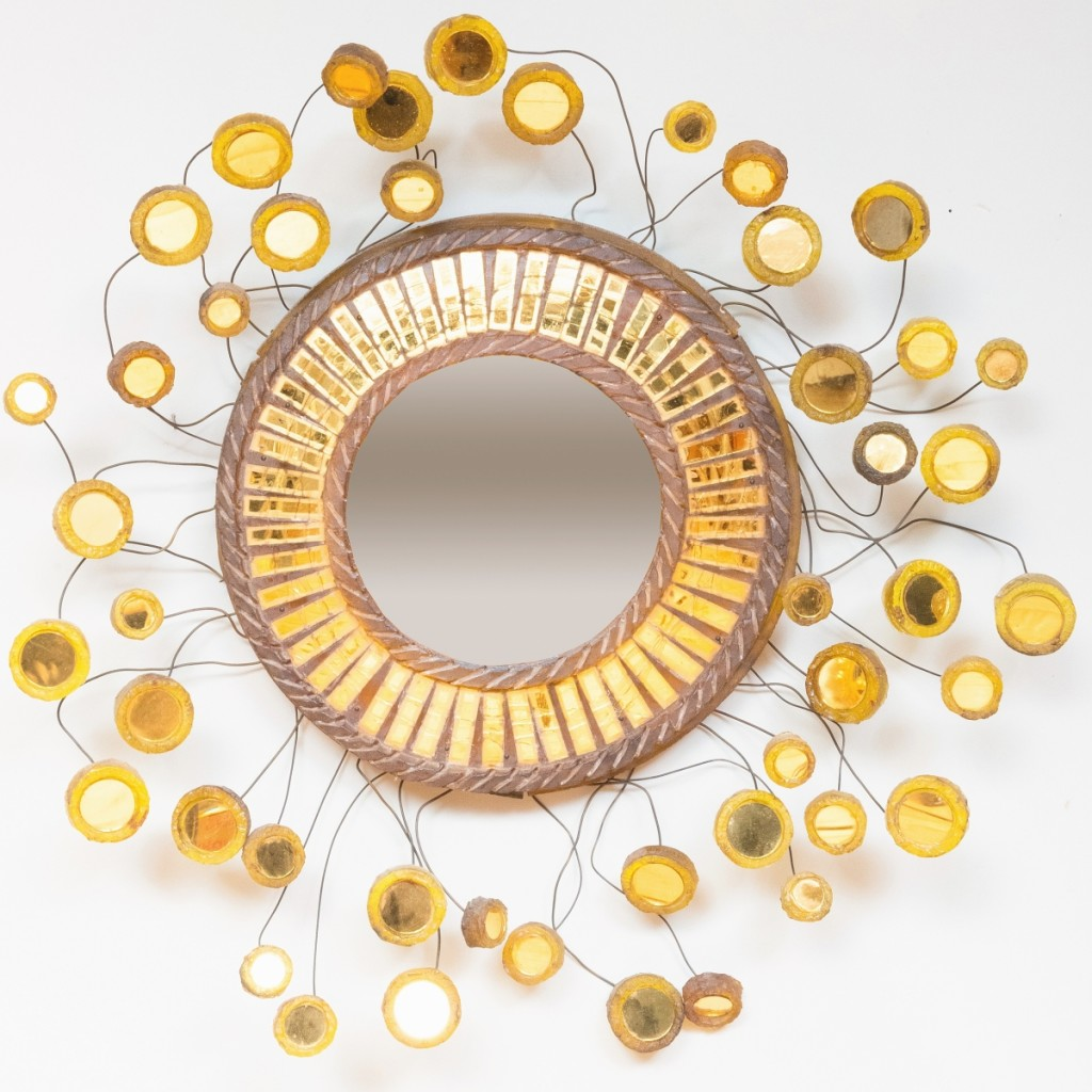 Chic resin mirror attributed to Edward Zajac brought $7,380. John Rosselli collection.