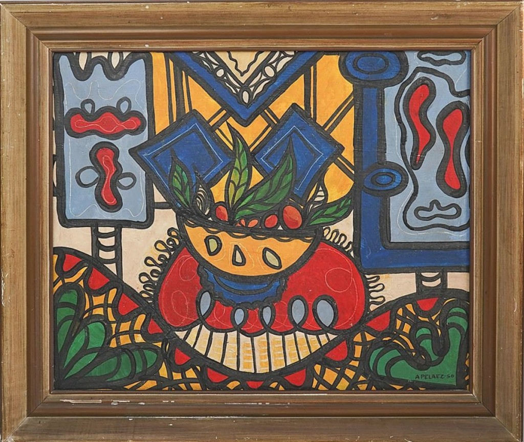 """""""The artist generally sells well but we did not expect to get that much for it,"""" Alexander Anapolsky said of this work by Amelia Pelaez (Cuban, 1896-1968), which was dated 1950 and achieved $27,280, the second highest price in the sale. It had been discovered at a local estate sale and will be staying in Florida, going to a local buyer ($100-$1,000)."""