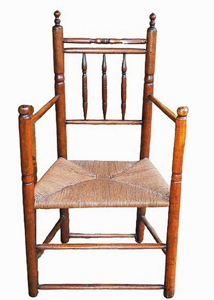 A rare Pilgrim chair from Seventeenth Century Plymouth County made its high estimate of $5,000.