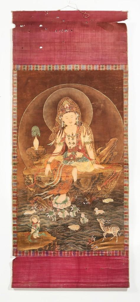 A Korean scroll painting of the Water-Moon Avolokesitesvara