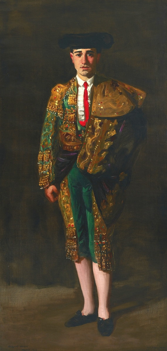 """""""El Matador"""" by Robert Henri (American, 1865-1929), 1906. Oil on canvas. Milwaukee Art Museum, purchase, the Mr and Mrs Donald B. Abert and Barbara Abert Tooman Fund with funds in memory of Betty Croasdaile and John E. Julien."""