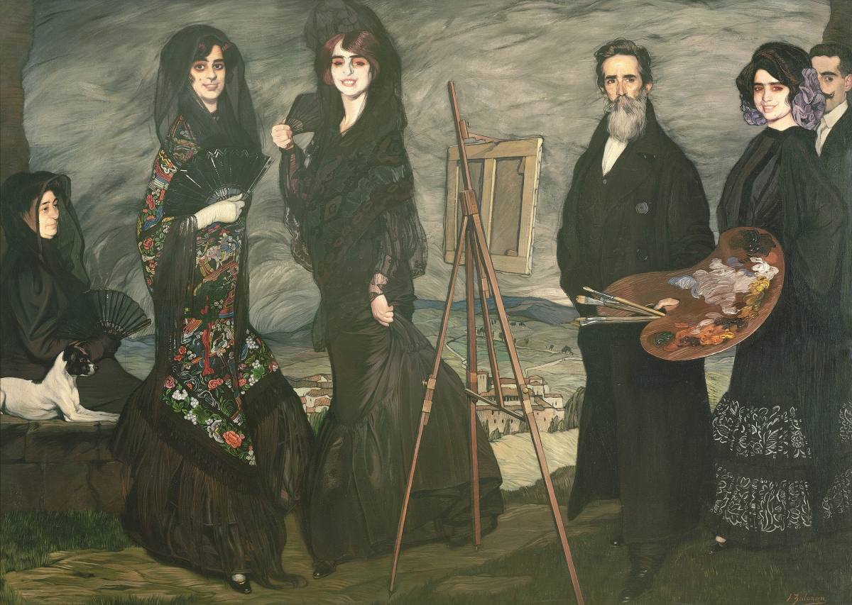 """My Uncle Daniel and his Family"" by Ignacio Zuloaga y Zabaleta (Spanish, 1870-1945), 1910. Oil on canvas. Museum of Fine Arts Boston, Caroline Louisa Williams French Fund."