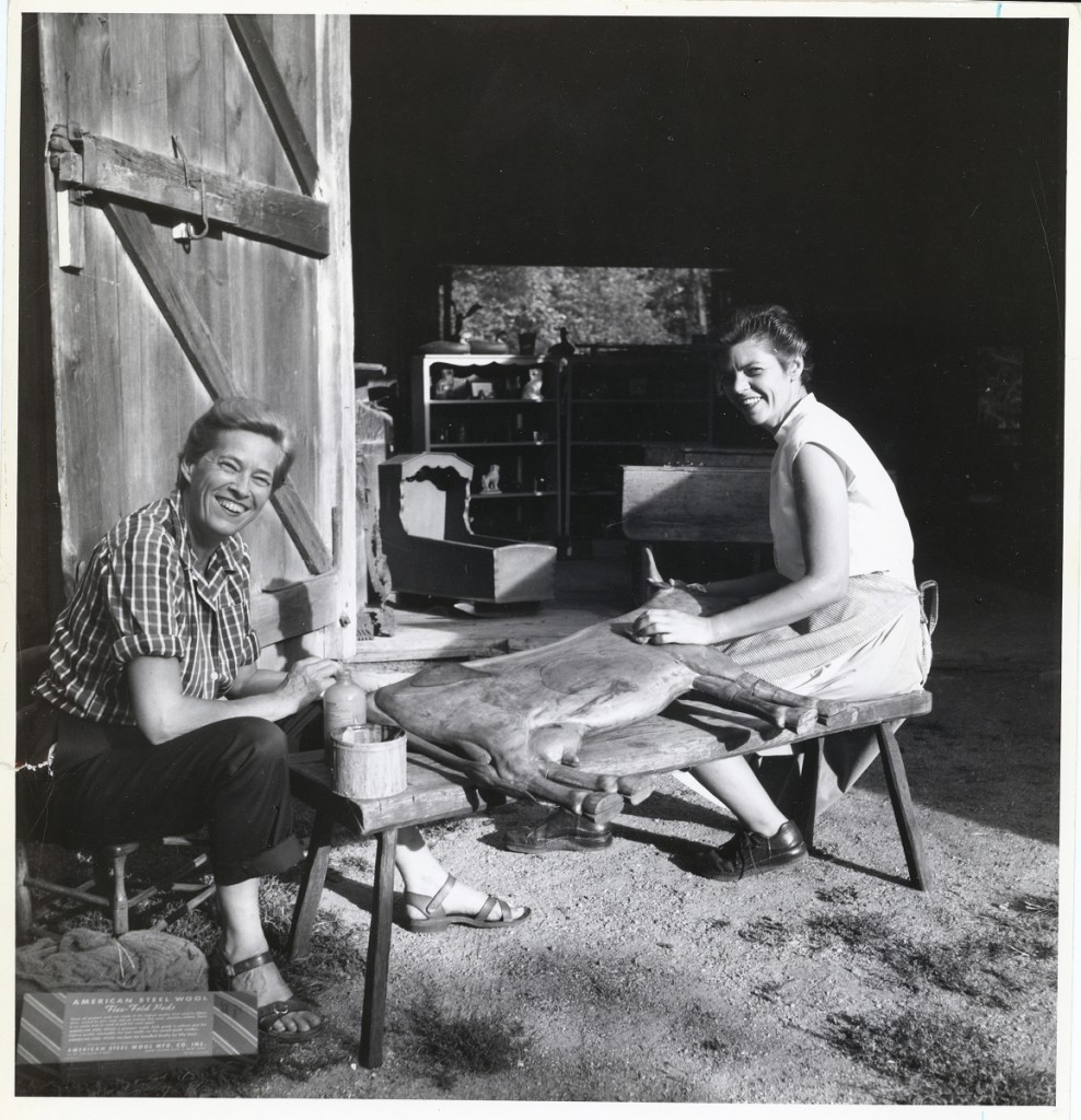 Cordelia Hamilton and Adele Earnest, two of the museum's co-founders. Photo courtesy of the American Folk Art Museum.