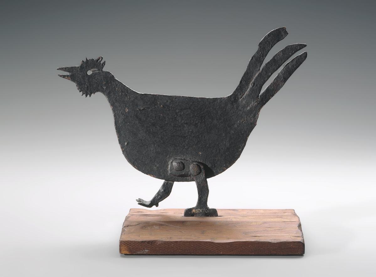 Boot scraper, unidentified artist, about 1890-1900. Wrought iron. Gift of Maxim Karolik.