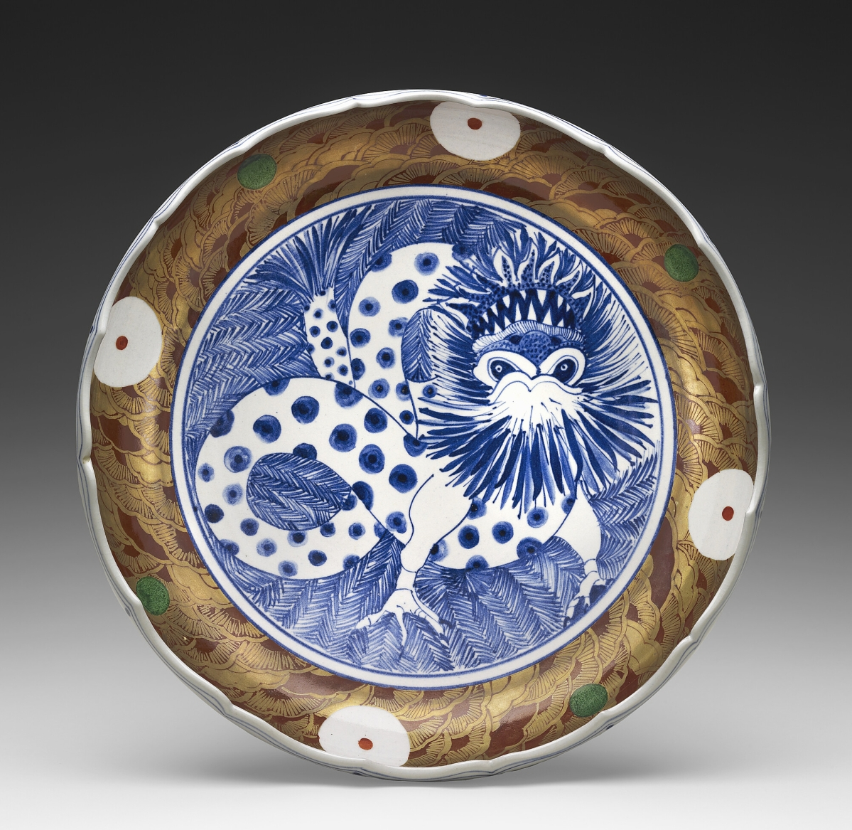 """""""Dragon Bowl"""" by Ralph Bacerra (American, 1938-2008), 1979. Porcelain. The Leatrice S. and Melvin B. Eagle Collection, museum purchase funded by the Caroline Wiess Law Accessions Endowment Fund."""