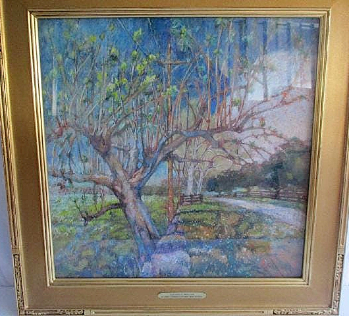 """A country landscape titled """"Pollards (Old Versailles Road) Kentucky"""" sold for $944 on 20 bids."""