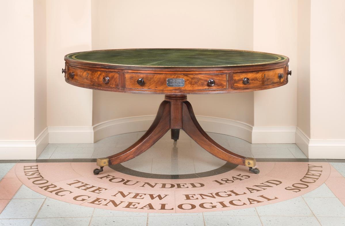 The Reverent John Pierpont's study table, England, circa 1825-35, mahogany, New England Historic Genealogical Society purchase, 1846, Accession No. R0275.
