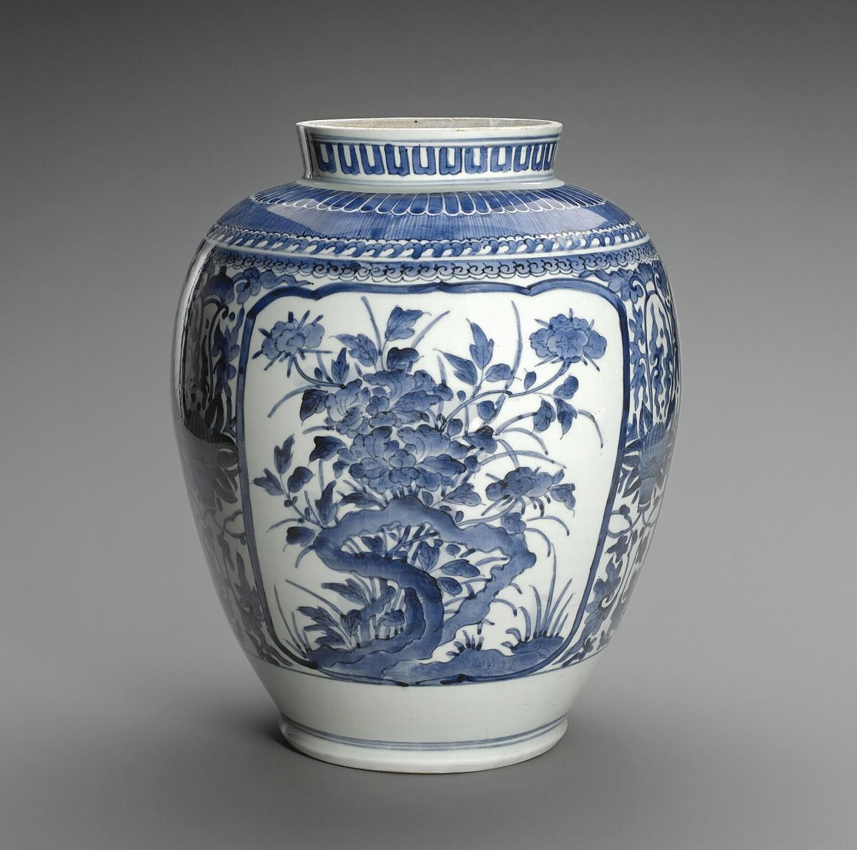 Arita vase, Japanese (Edo), late Seventeenth Century. Ceramic. Sarah Campbell Blaffer Foundation, Houston.