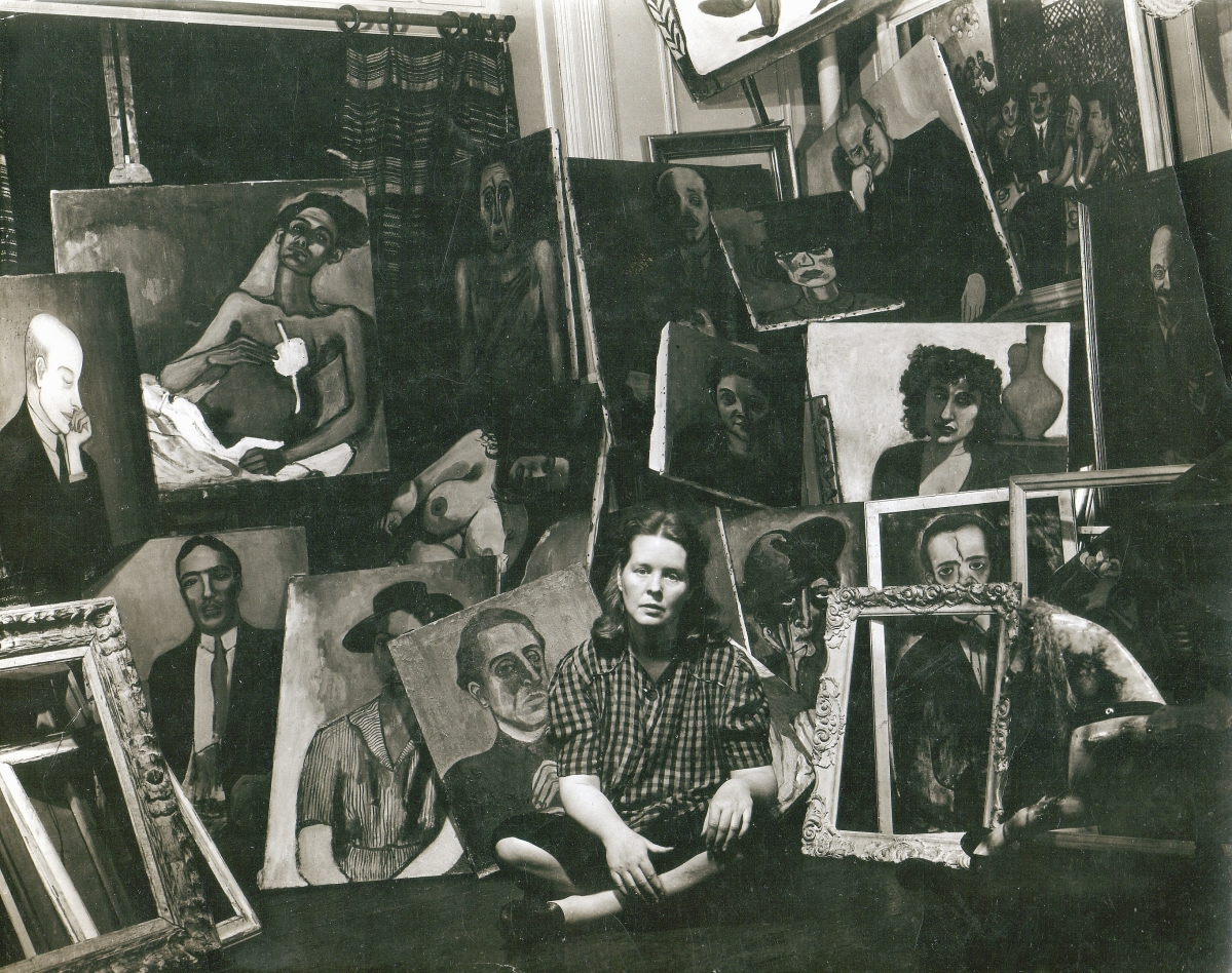 Alice Neel, 1944. Alice Neel Archive, Stowe, Vt. Photograph by Sam Brody. Courtesy The Estate of Alice Neel.