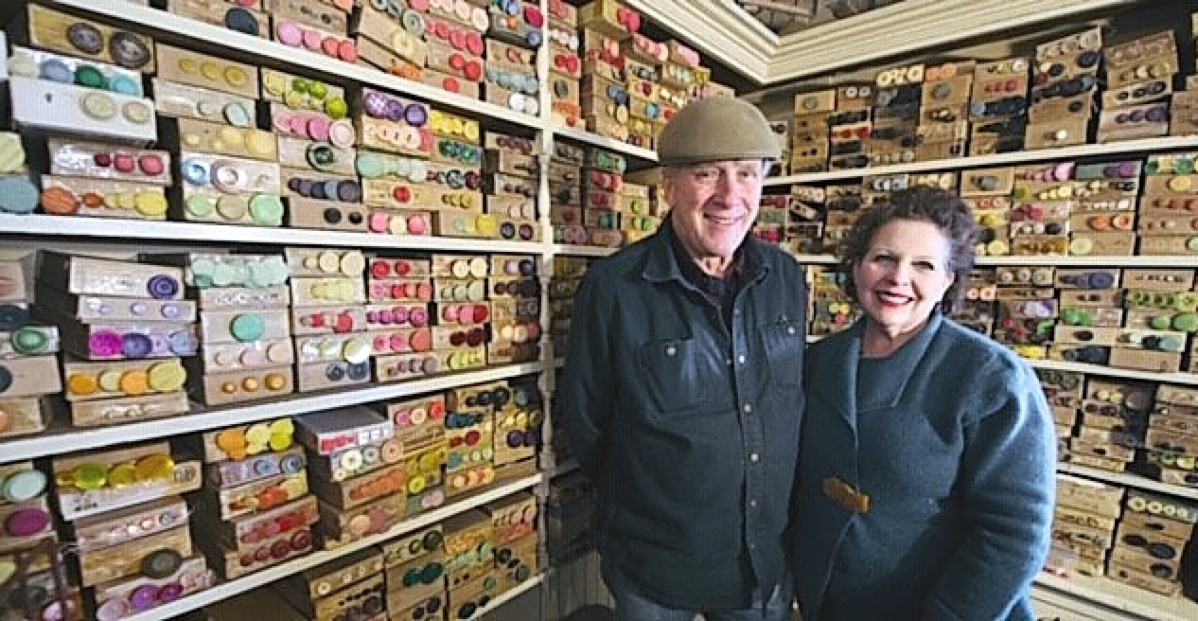 Linda Sarubin has one of the largest selections of antique and vintage buttons that one can find anywhere.