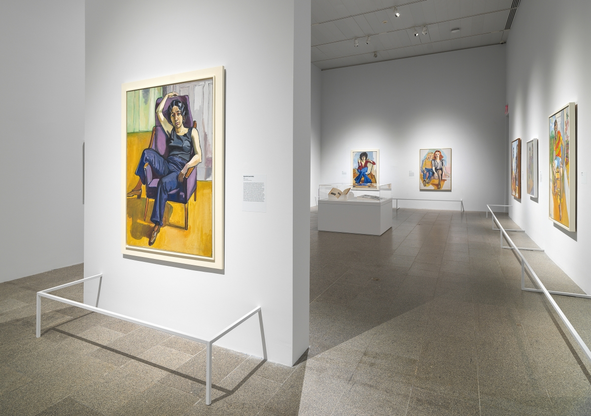 """Installation view of """"Alice Neel: People Come First"""" at The Met, 2021. Image Courtesy The Metropolitan Museum of Art. Photo by Anna-Marie Kellen."""