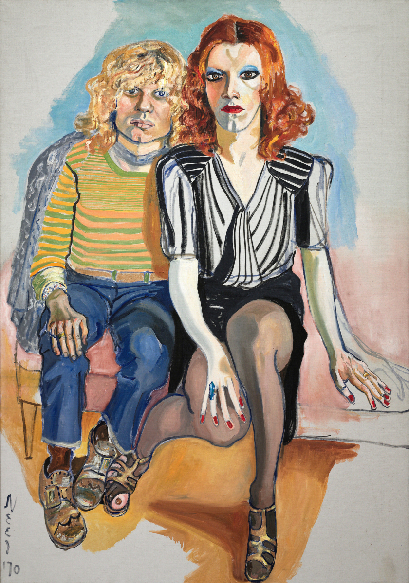 """Jackie Curtis and Ritta Redd"" by Alice Neel, 1970. Oil on canvas, 60 by 41-  inches. The Cleveland Museum of Art, Leonard C. Hanna Jr Fund. ©The Estate of Alice Neel."