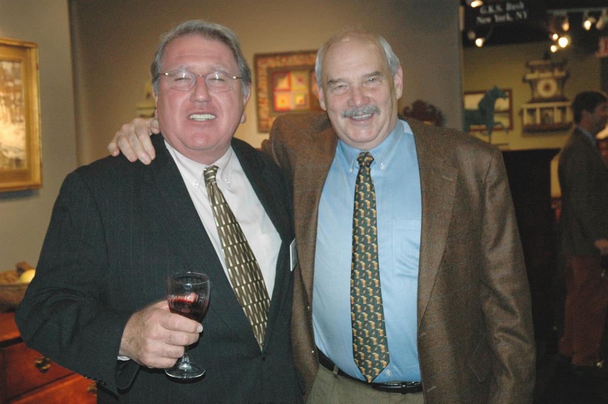 Paul Scott, left, with dealer Wayne Pratt