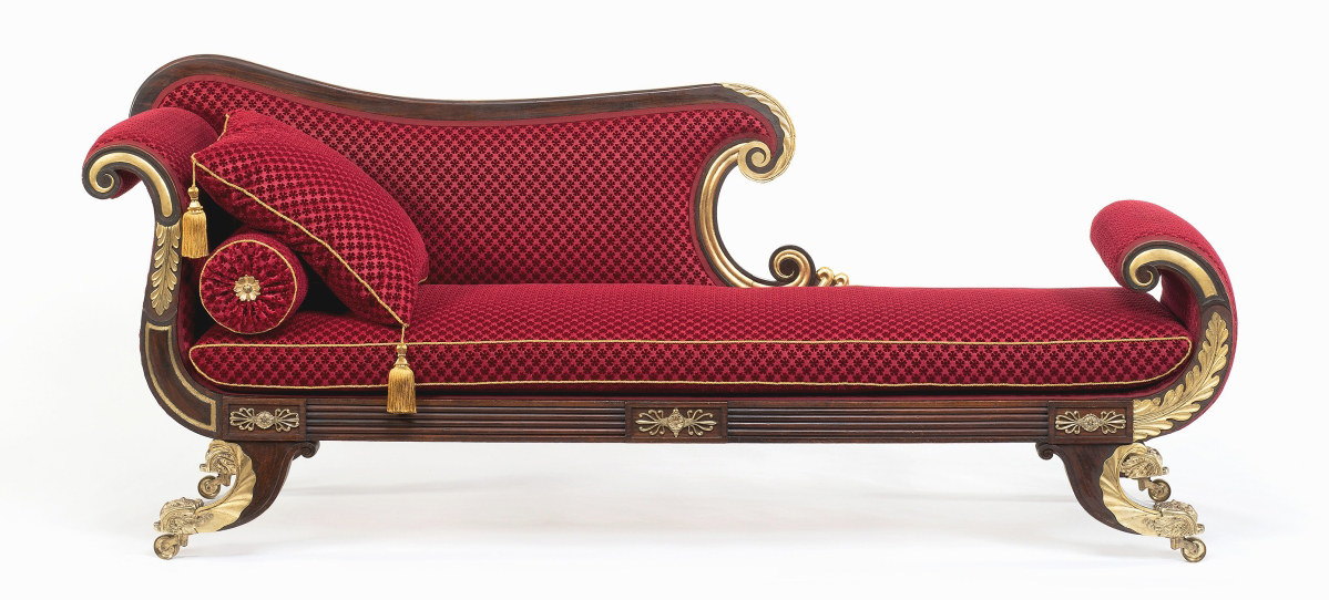 Conserved Isaac Vose & Son couch at Otis House in Boston.