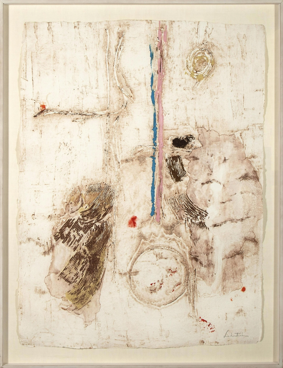 """Helen Frankenthaler's monotype print """"Parets VII"""" sold for $39,975. The work was printed by Polígrafa Obra Gráfica outside Barcelona."""