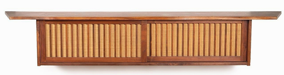 The second highest price for a work by Nakashima was this hanging wall cabinet, which brought $39,325 ($8/12,000).