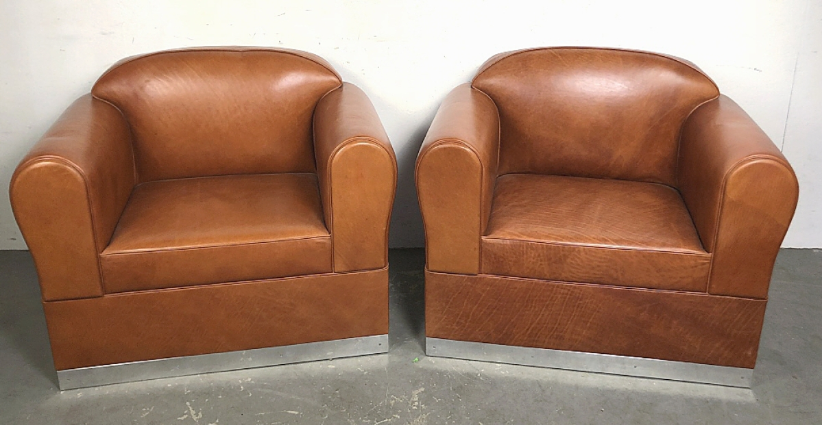 This pair of Ralph Lauren Canyon club chairs took $4,688.