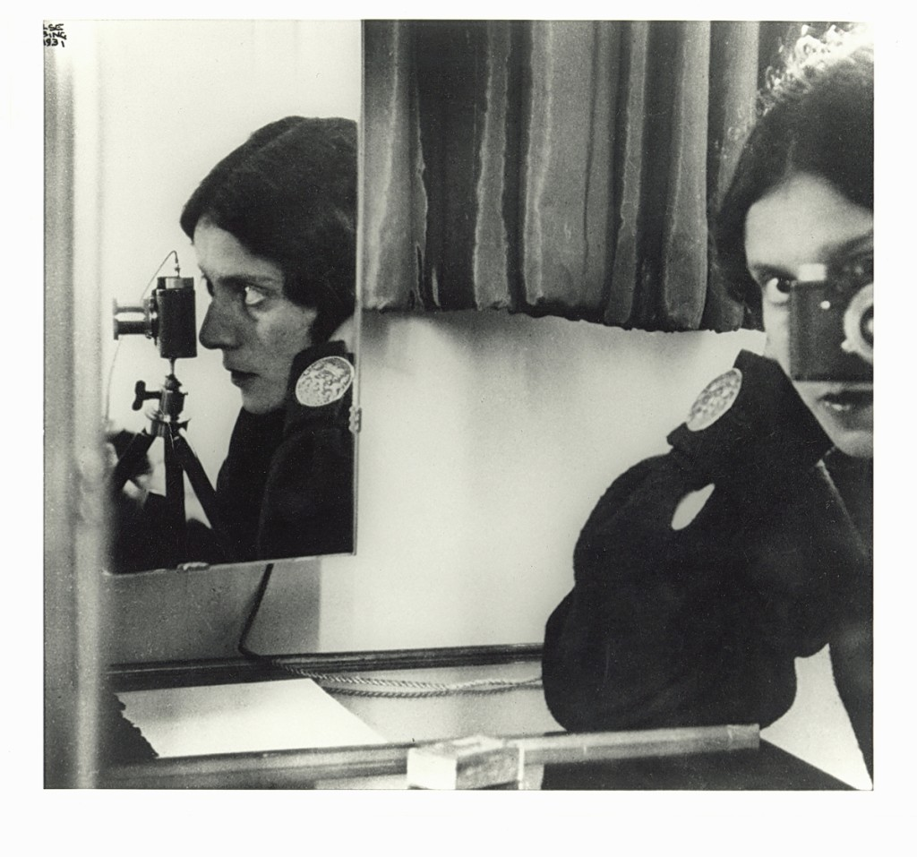 "Ilse Bing (American, b Germany, 1899-1998), ""Self-Portrait in Mirrors, Paris,"" 1931, printed circa 1941, gelatin silver print, 1987.14. Purchase with funds from Georgia-Pacific Corporation."