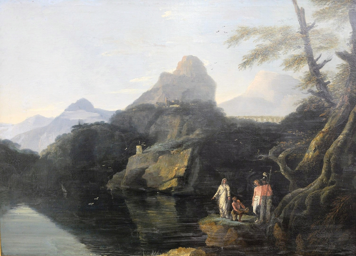 In the manner of William Hodges (British, 1744-1797), this oil on canvas mountainous landscape with figures was unsigned but found believers at $33,825.