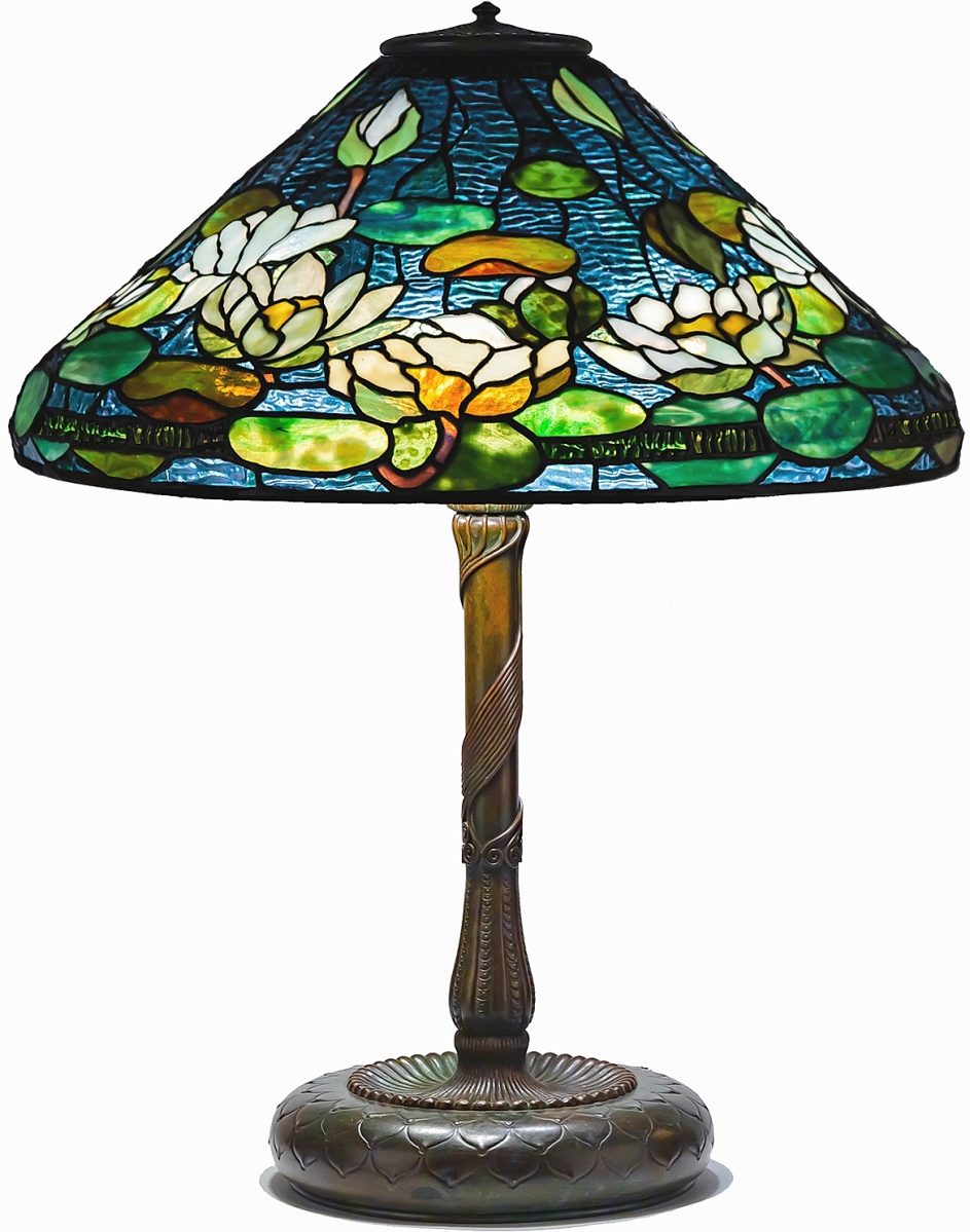 Leading the parade of Tiffany Studios lighting was this rare Pond Lily table lamp that lit up to $143,750.