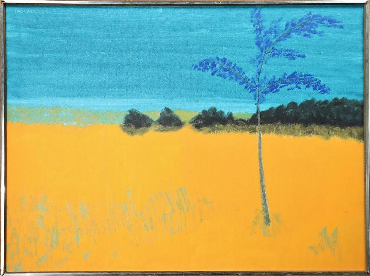 March Avery, daughter of Milton Avery, was represented by a large oil on canvas landscape painting that brought $16,380.