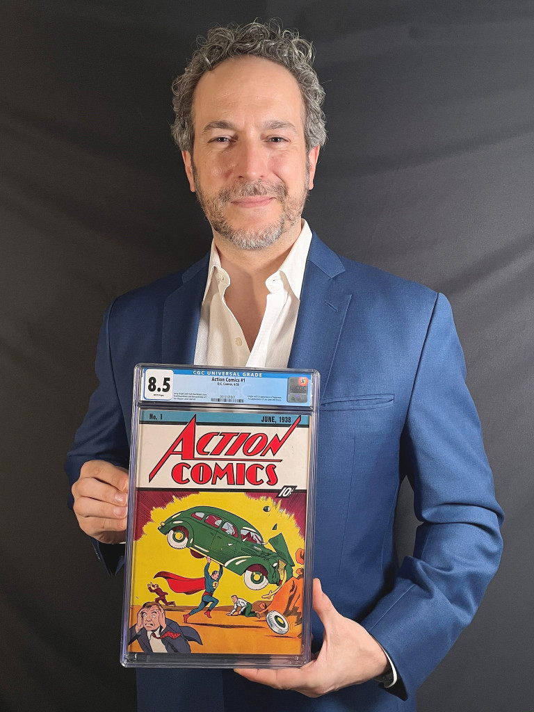 NEW YORK CITY — Just when you think vintage comic book values cannot go any higher, another record falls. This time, an exceedingly-rare Action Comics #1— the legendary 1938 comic that marks Superman's first appearance — has sold for a historic, record-breaking $3,250,000.