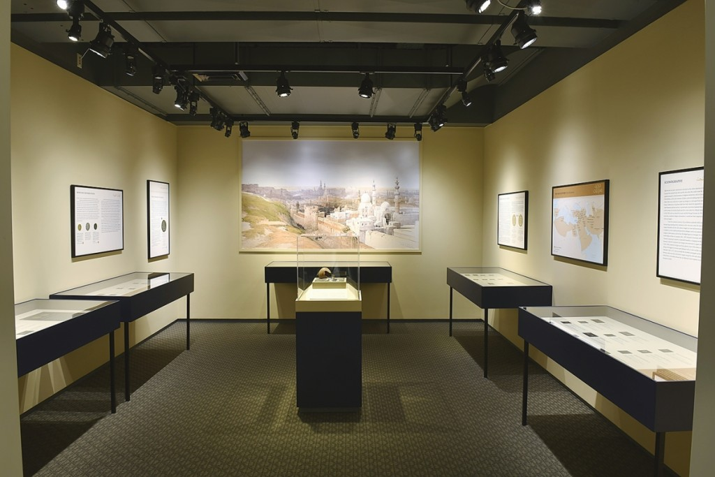 """Installation photograph, """"Gold Of The Caliphs: Medieval Islamic Coins From The Gary Leiser Collection Of The Hallie Ford Museum Of Art,"""" on through August 14. Courtesy of the Hallie Ford Museum of Art. Photo by Dale Peterson."""