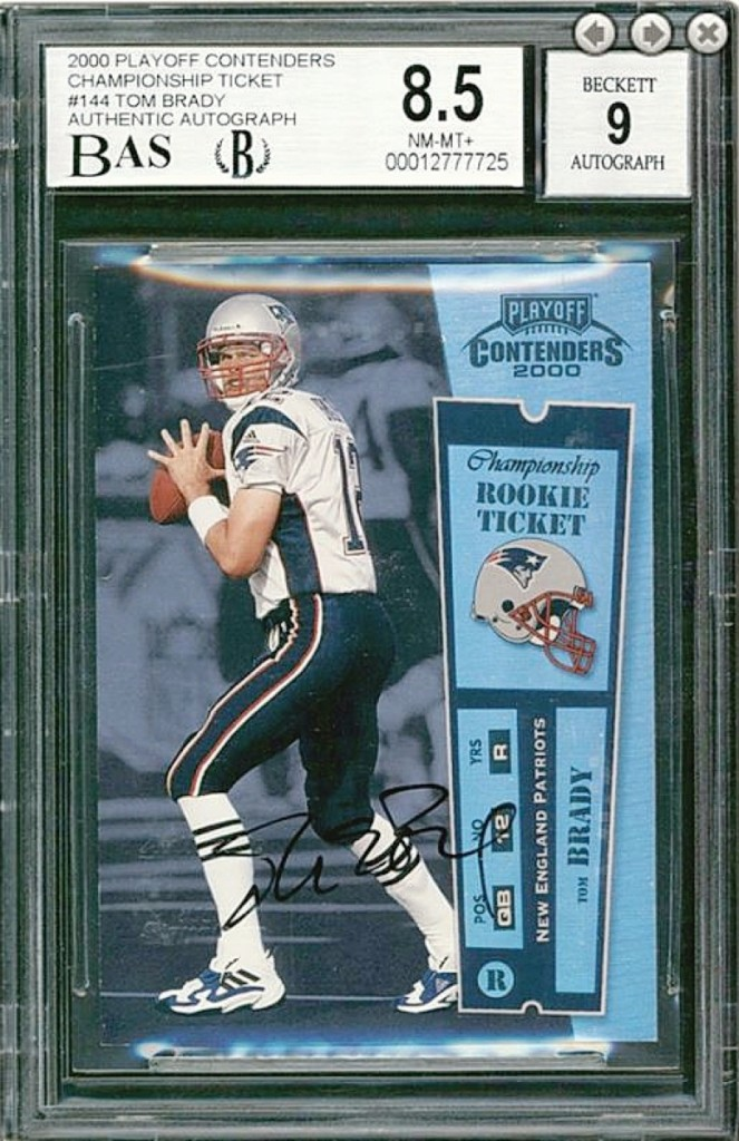 """The """"Holy Grail"""" of Tom Brady rookie cards sold for a world record $2,252,854."""