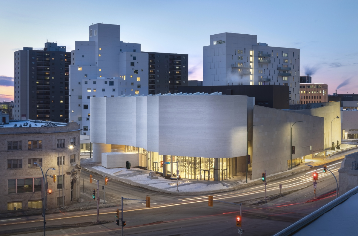Los Angeles architect Michael Maltzan designed Qaumajuq, built in partnership with Cibinel Architecture of Winnipeg. Photo Lindsay Reid. Courtesy Qaumajuq at the WAG.