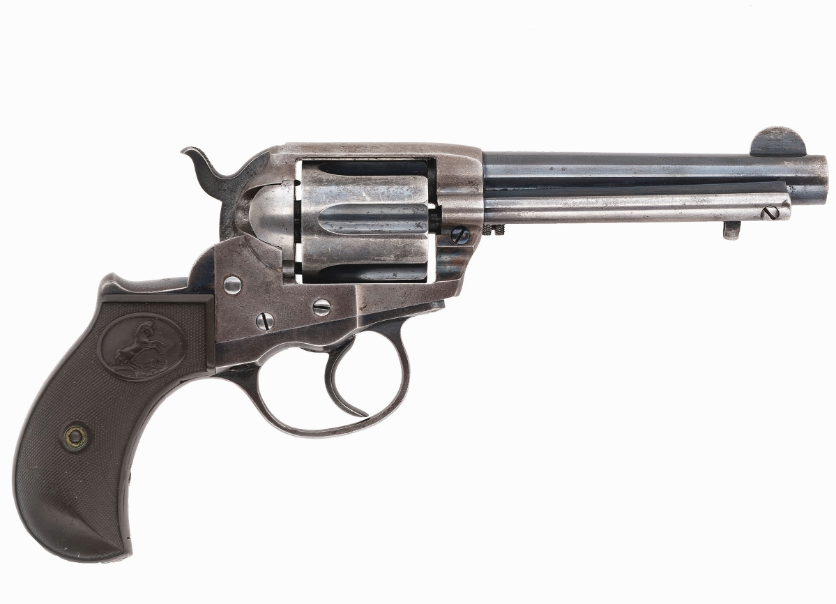 This 1877 Colt revolver is in the Charlie Hinton collection and is representative   of the early guns that got Carey hooked.